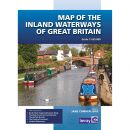 Imray Map of the Inland Waterways of Great Britain